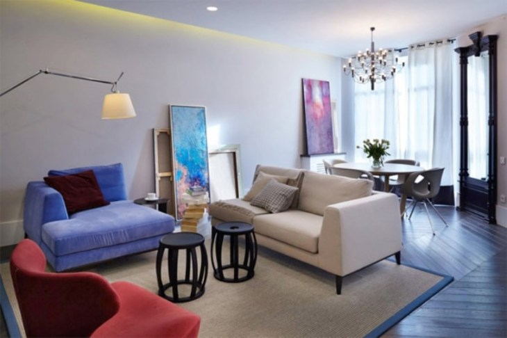 Inspiring apartment design with colorful interiors that offer rich and elegant details 3