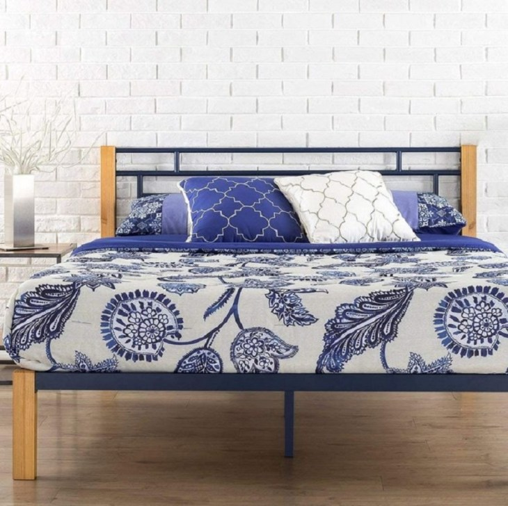 Taylan metal and wood platform bed Hypnotize Bed Frames Where You Can Rest Easily With Style