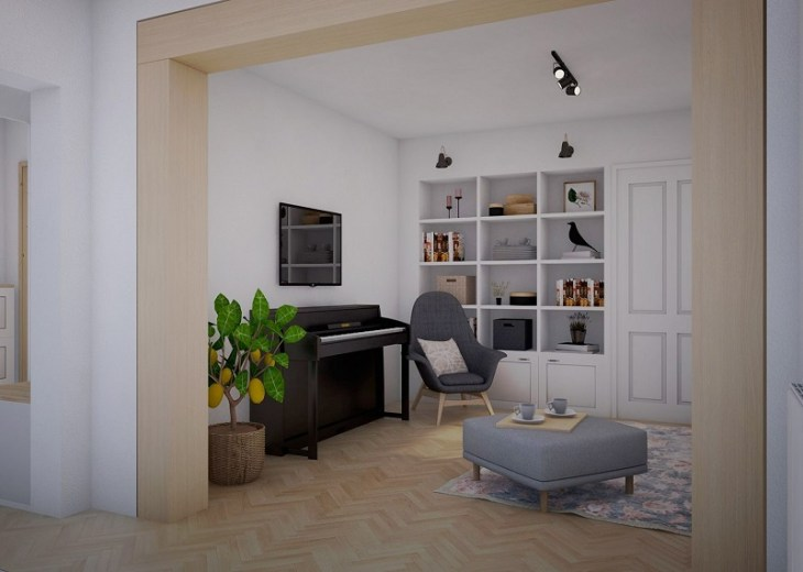 Vintage apartment with romantic tone that comfortable for a young couple 3