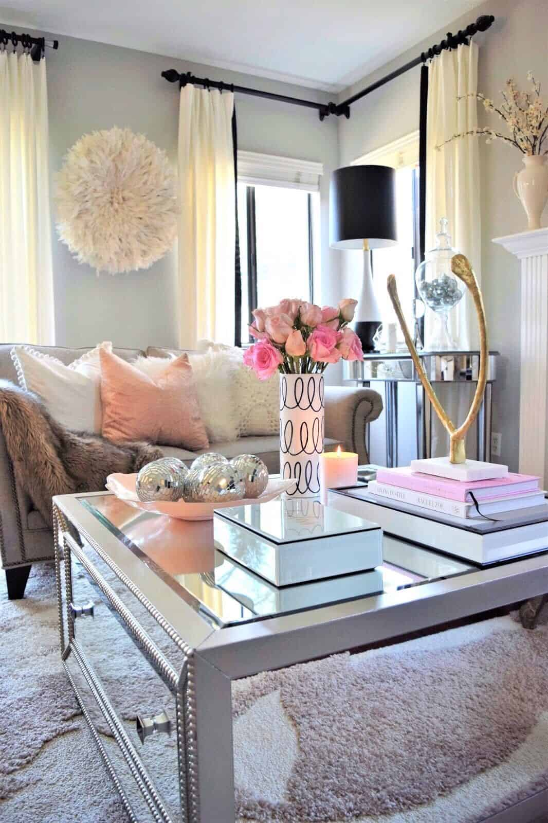 The Highlight Of Fresh Feminine To Present The Most Appealing Living Room