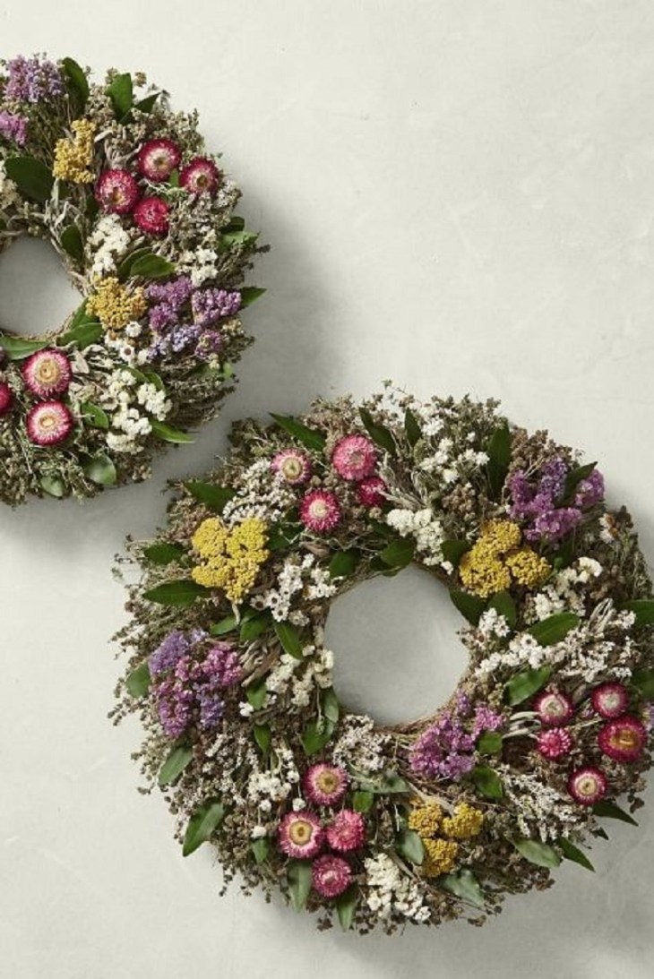 Floral garden wreath Incomparable Easter Home Decoration Ideas That Everyone Will Love This Spring