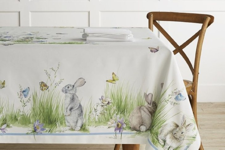 Floral meadow table cloth Incomparable Easter Home Decoration Ideas That Everyone Will Love This Spring
