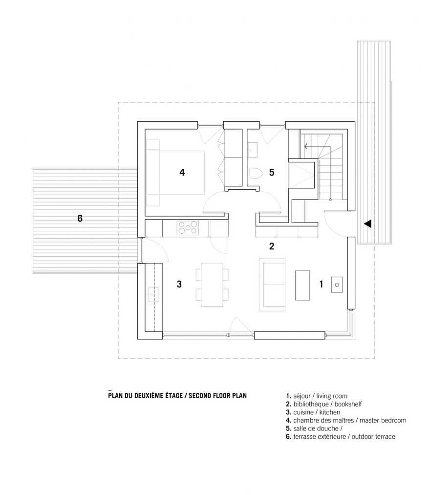 Minimalist house with monolithic architecture to get rest better annd rid our stress 5'