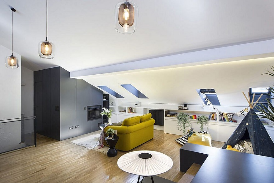 Unbelievable attic design that can function as an independent apartment