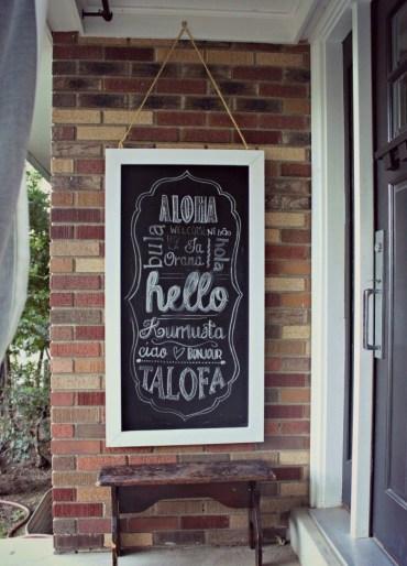 Chalkboard-hanging-veranda-frame