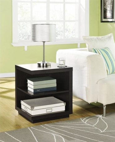 Dark-wood-two-shelf-end-table-with-lamp-600x741