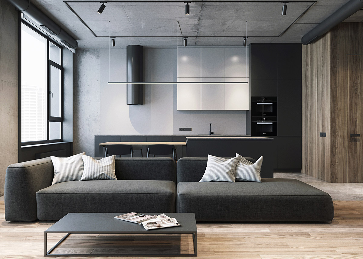 Minimalist Living Room Designs with A Masculine Touch