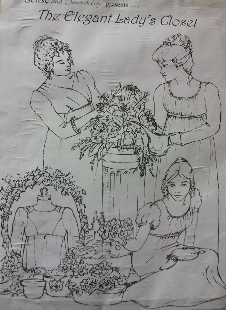 Sense and Sensibility Elegant Lady's Closet Pattern...The Drawstring Dress (Part 1)