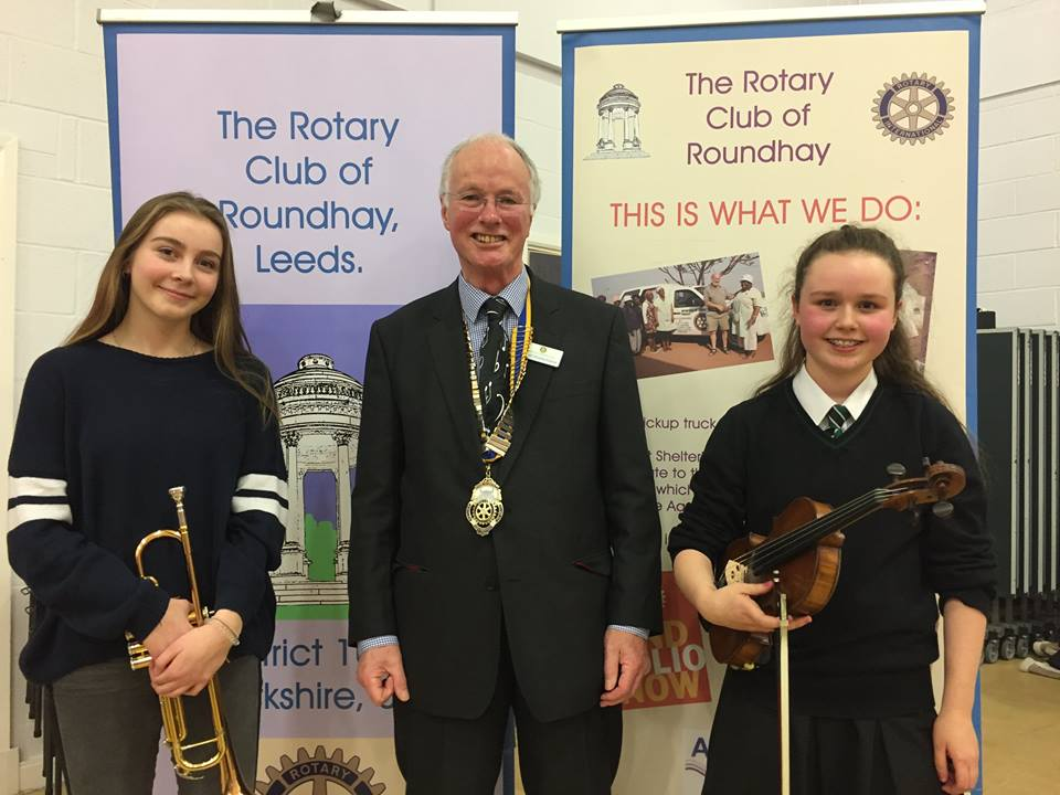 Roundhay Rotary Young Musician winner and runner-up 2017