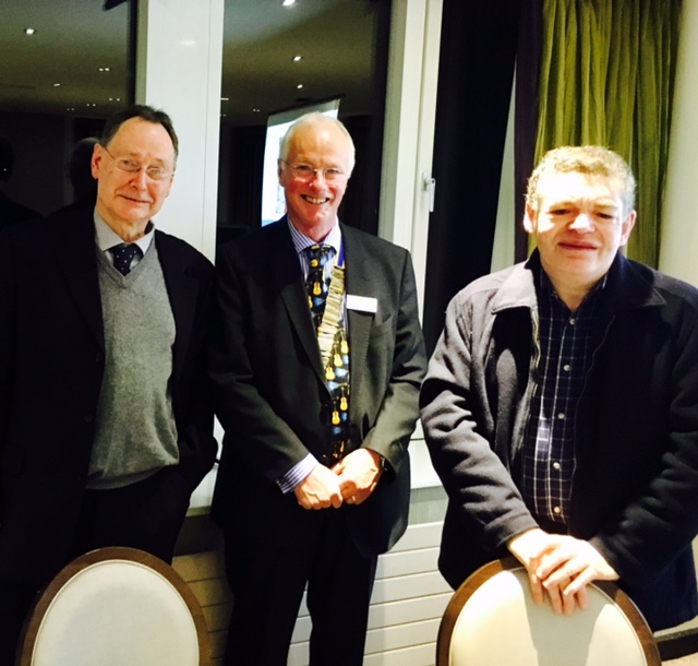 Camphill Village Trust director of communications Andy Payton & Chris Taylor with president Scott Wolstenhome