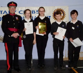 Prizes were awarded by deputy Lord Lieutenant Mike Fox