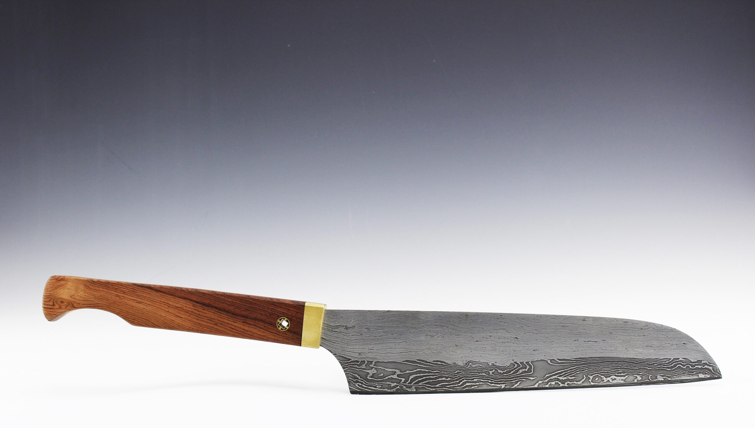 Hand forged pattern welded santoku