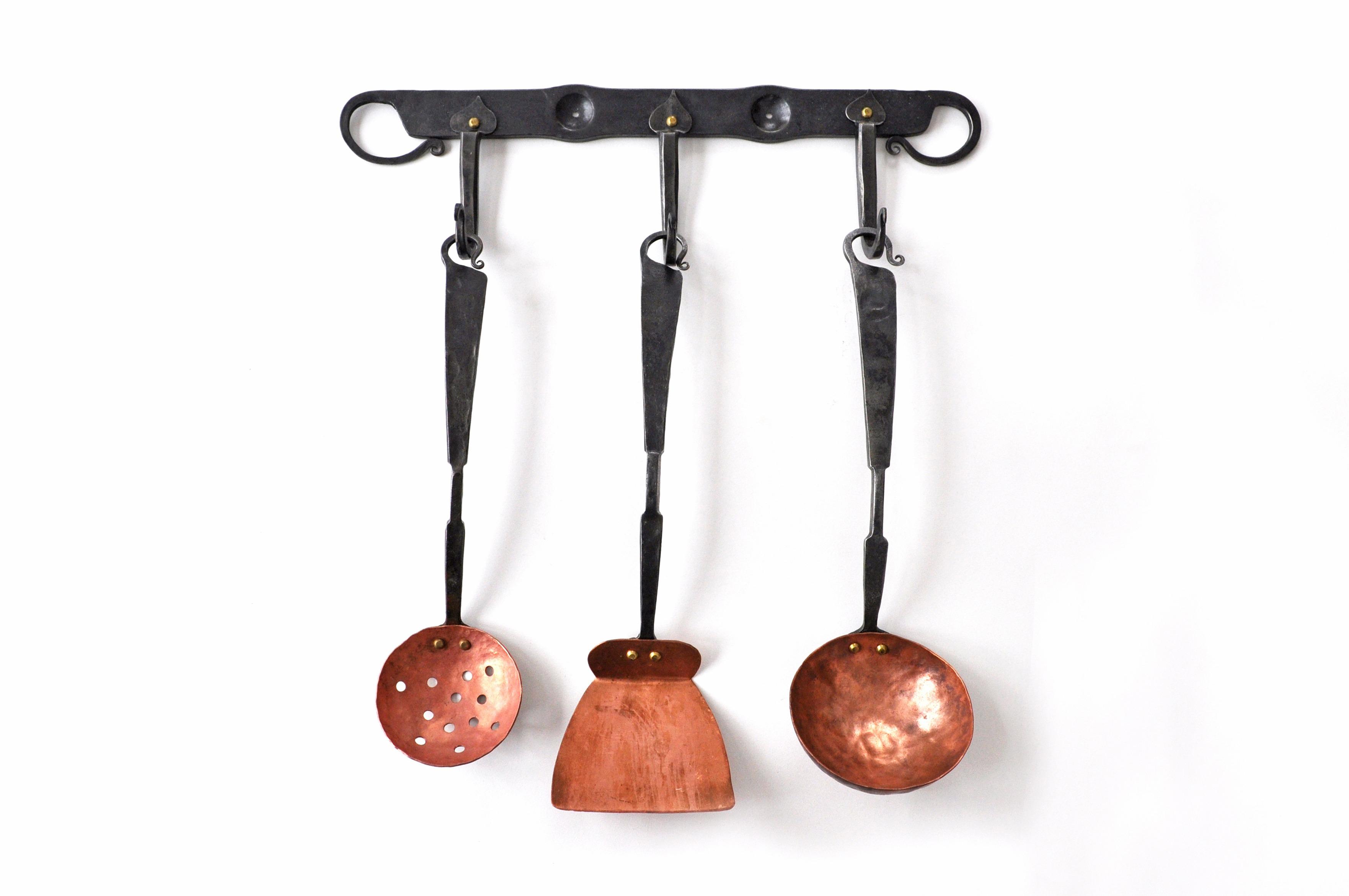Forged Copper Serving Utensil Set