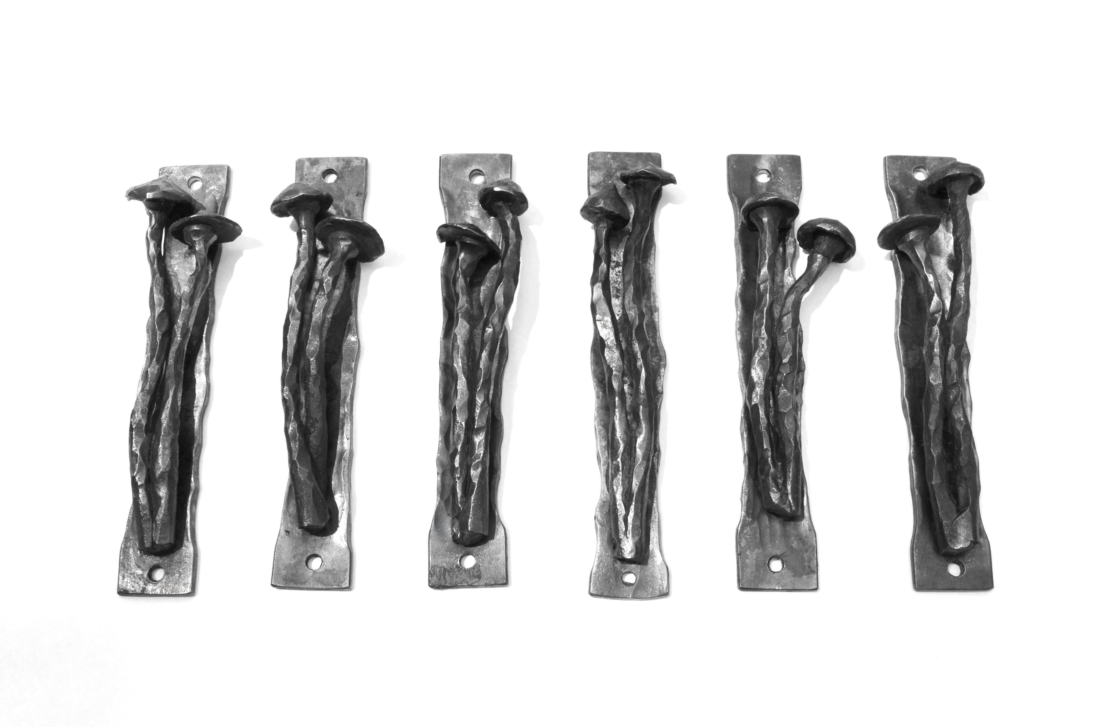 blacksmith metal mushroom door pull