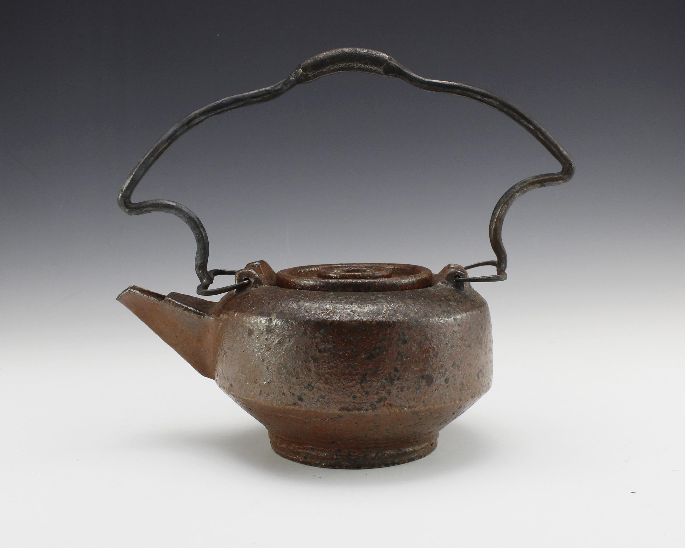 Iron and Ceramic teapot liza mitrofanova