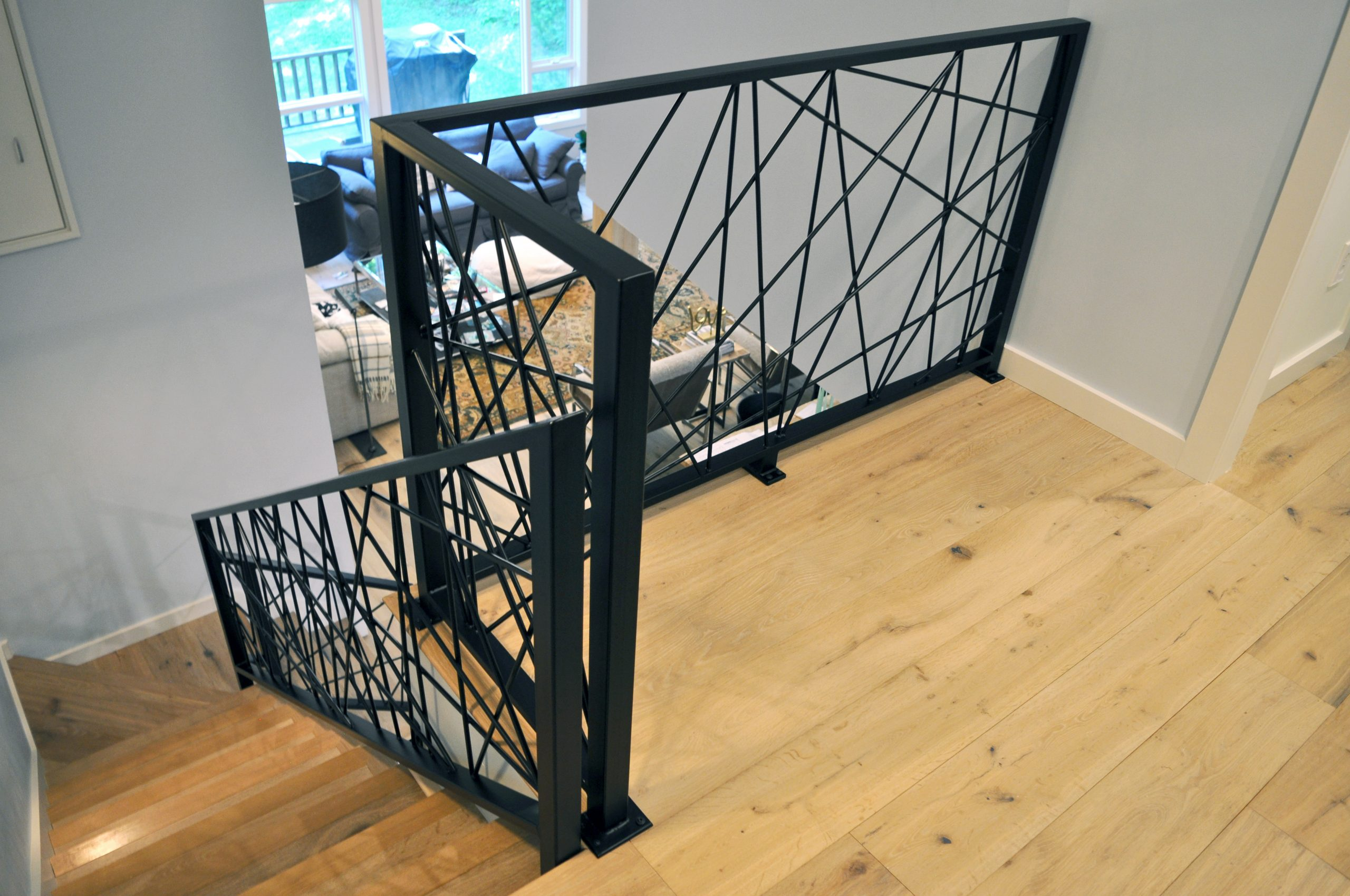 Black Steel Industrial Art balustrade