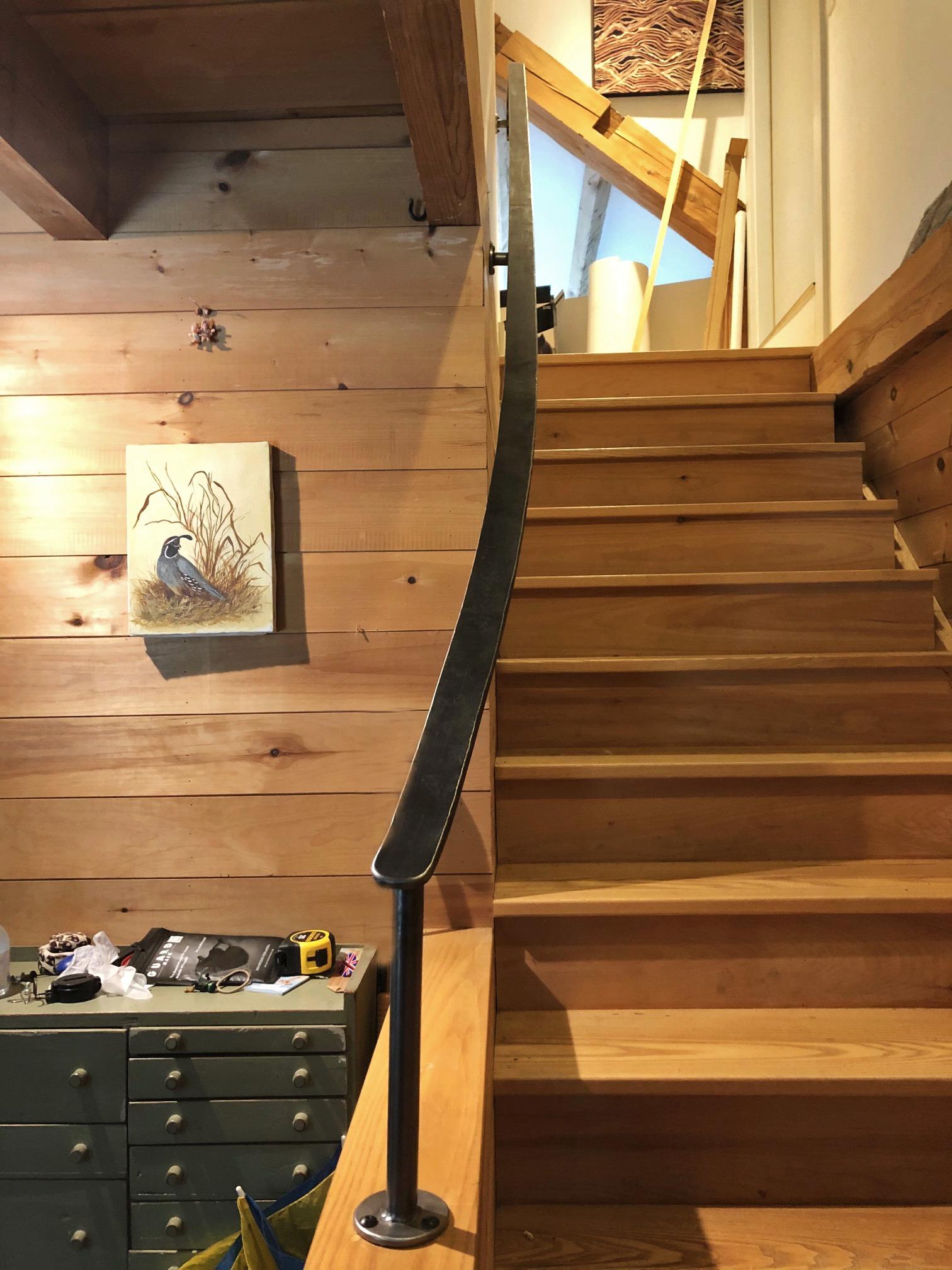 Iron modern stair railing