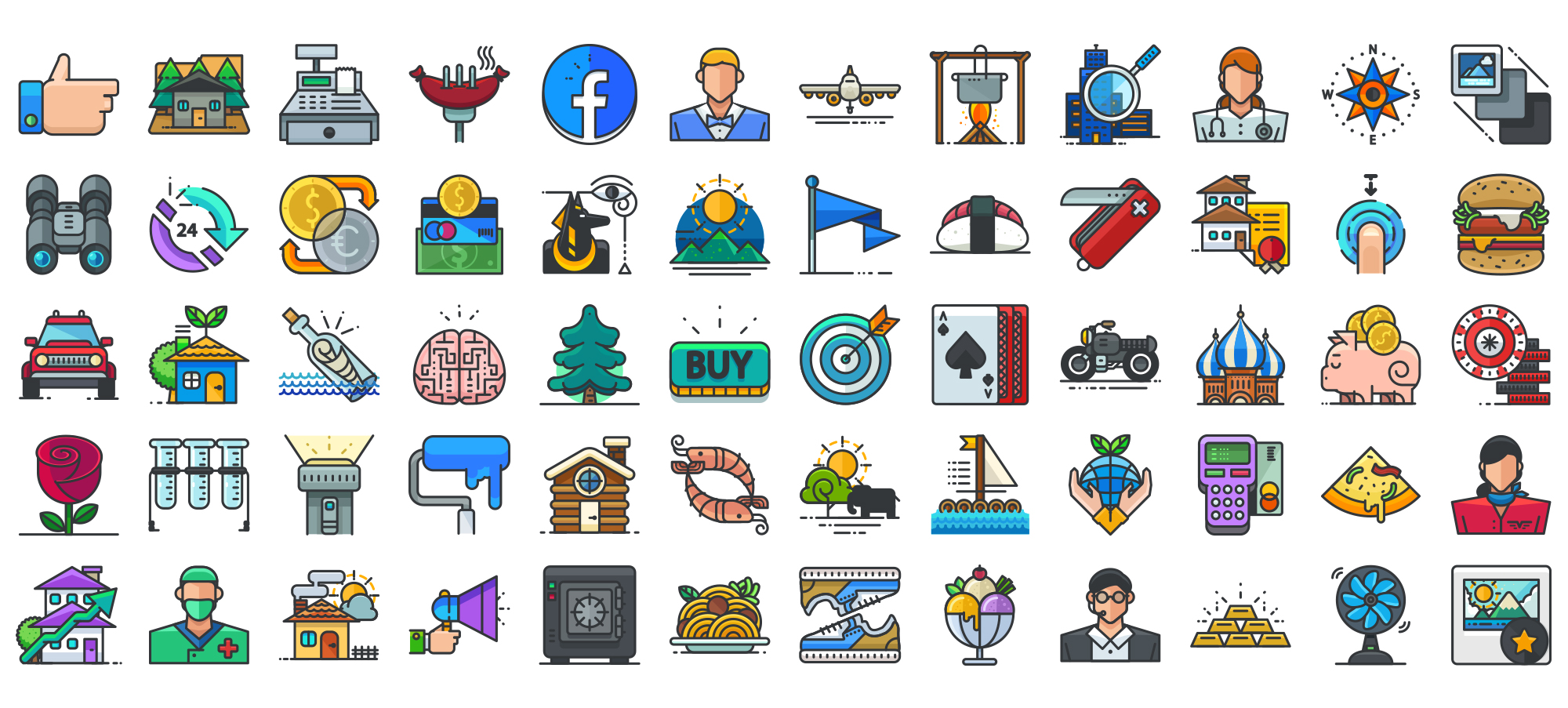Filled Outline Icons pack