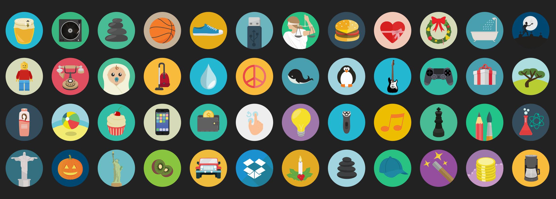 flat-round-icons-set