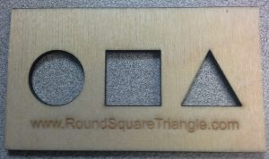Round Square Triangle Card