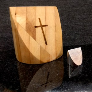 3 inch Custom Oak with 3/4 inch aluminum Round Square Triangle