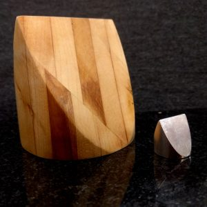 3 inch Oak Custom with 3/4 inch aluminum Round Square Triangle