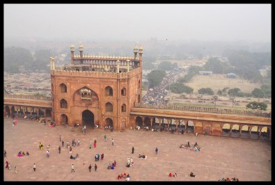 """Delhi - """"view"""" from the minoret"""