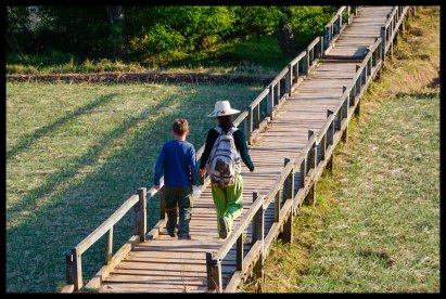 Day 1 - Bridge near village with Nwenwe