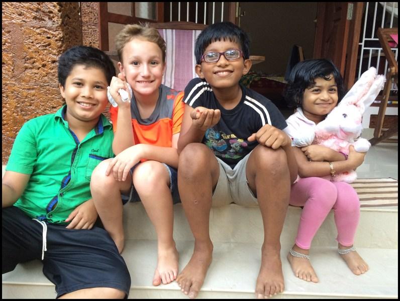 Making friends - Gotham, Abi, and Krishna Priya