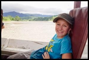 In the jungle boat
