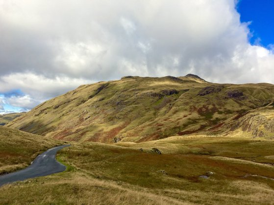 views across the Hardknott Pass