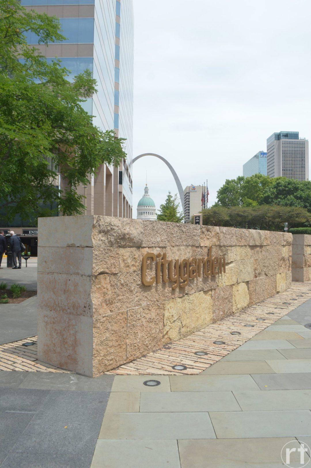 City Garden the Arch St. Louis