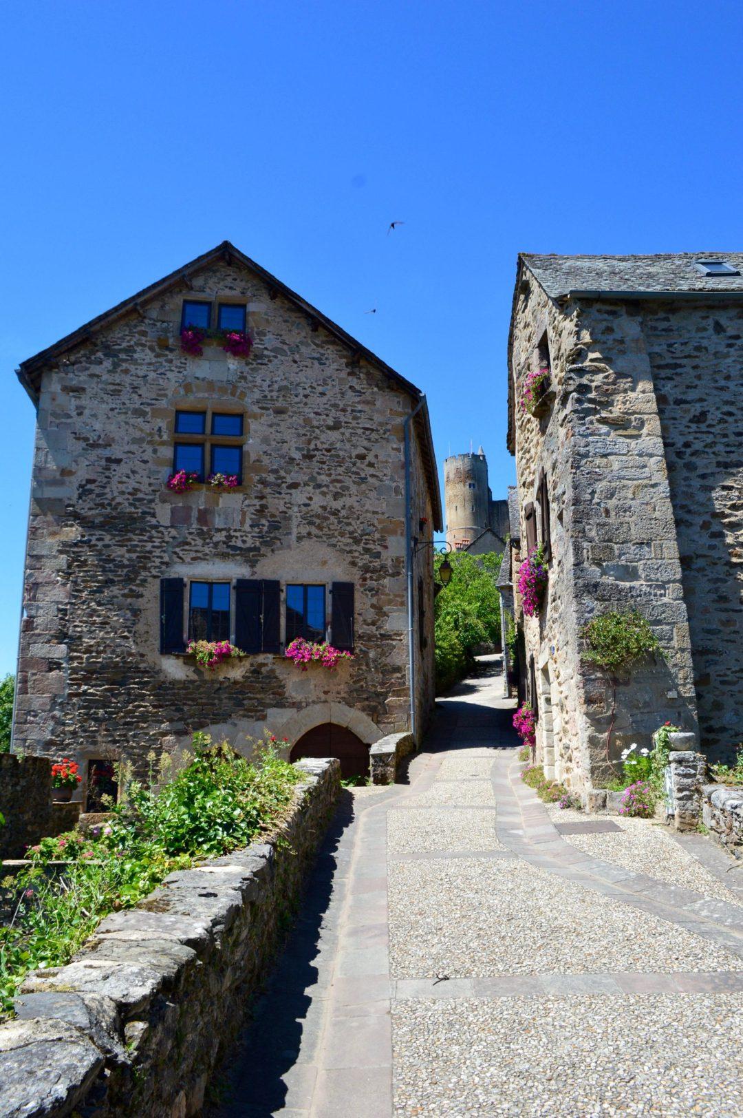 cobblestone streets rues najac france travel