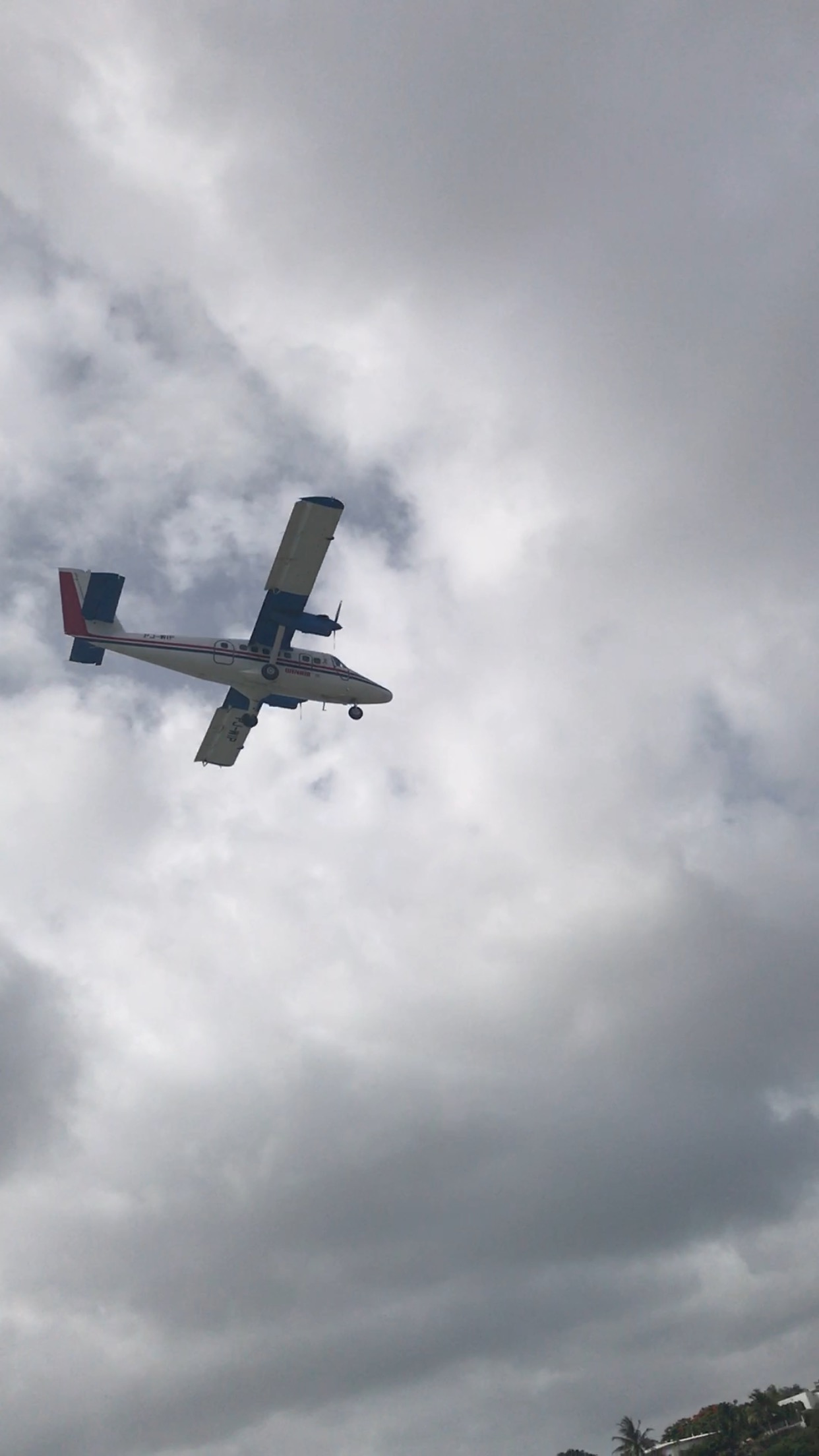 Plane St Martin Caribbean Sea Vacation