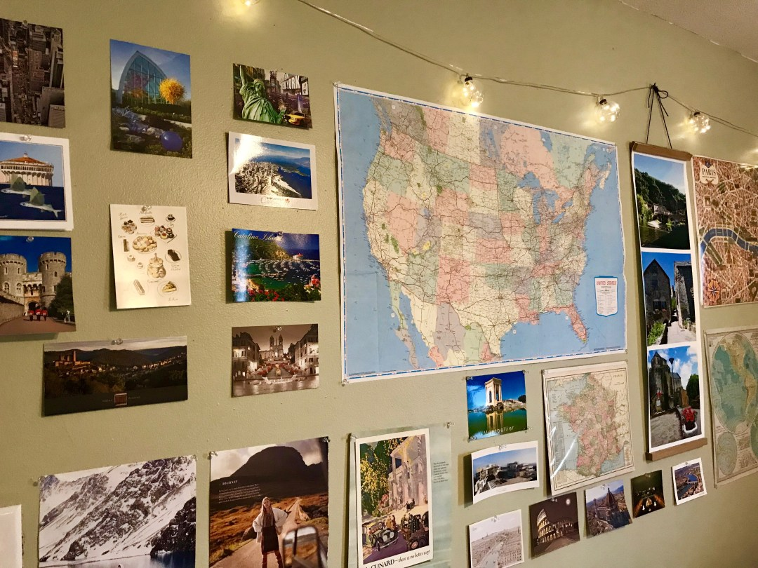 Travel Wall United States Map Cartography Round Trip