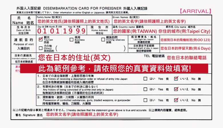 外國人入境紀錄