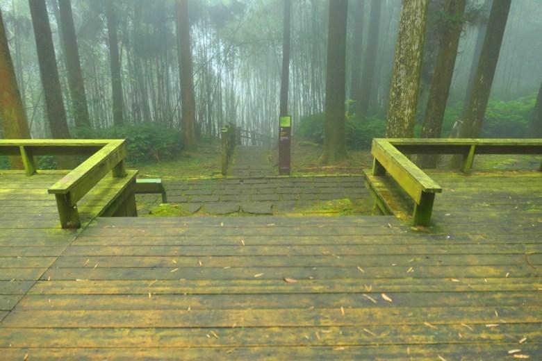 奮起湖神社遺跡木頭平台 | 奮起湖 | 嘉義 | 臺灣 | 巡日旅行攝