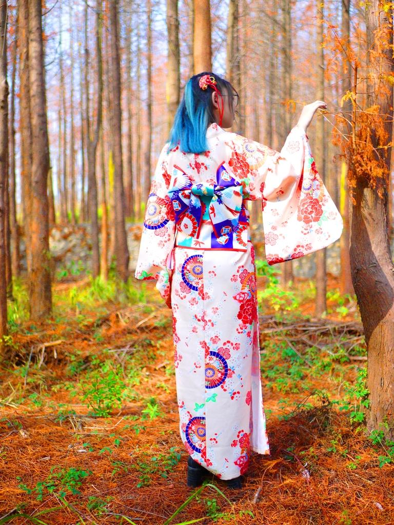 綿延不絕的落羽松林 | 日本和服 | 日本味 | 和風 | Dadu | Taichung | Wafu Taiwan | 巡日旅行攝