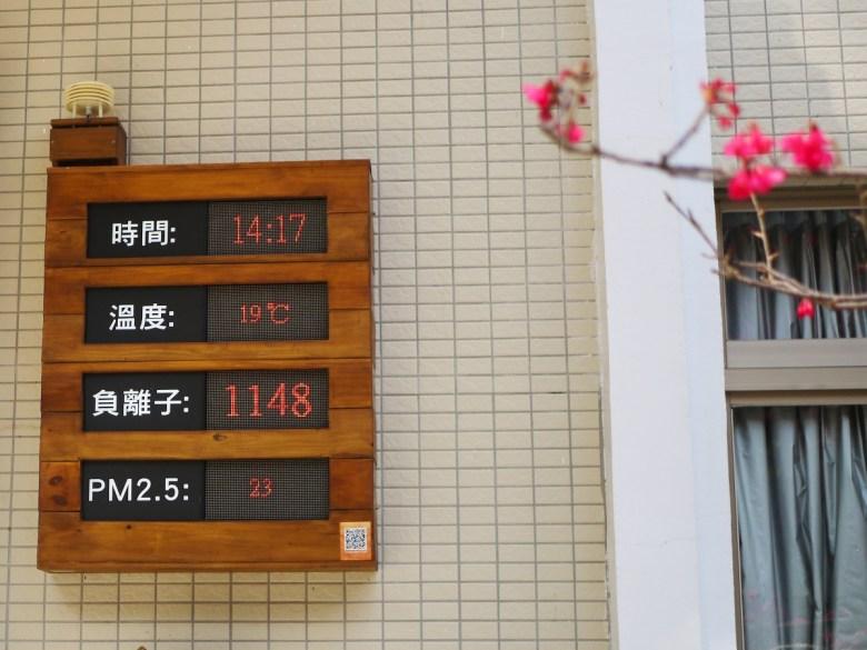 時間14:17 | 溫度:19度 | 負離子:1148 | PM2.5:23 | 遊客服務中心空氣品質資訊表 | 八仙山國家森林遊樂區 | 巡日旅行攝