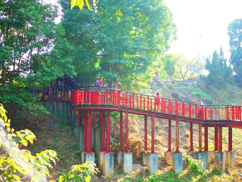 紅綠強烈對比 | 美麗的天空廊道 | 從高欣賞梅山之美 | 梅山公園 | 梅山 | 嘉義 | 巡日旅行攝