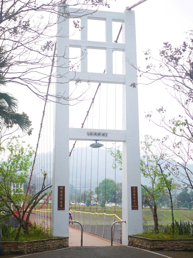 桶頭吊橋另一端   橫斷青い溪流   猶如日本静岡夢之吊橋   日本味   Takeyama   Zhushan   Nantou   巡日旅行攝