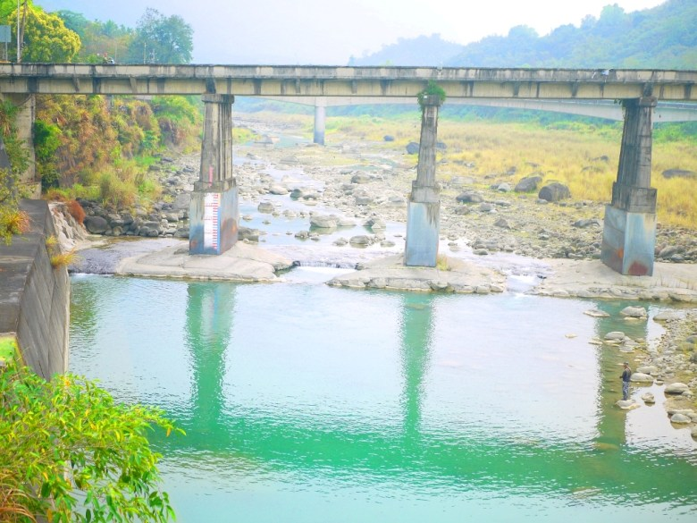 清水溪   桶頭橋   桶頭吊橋後方   橫斷青い溪流   Takeyama   Zhushan   Nantou   巡日旅行攝