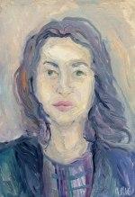 """Alina Gumilyov"" 2016. Oil on cardboard, 30 x 50 cm"