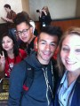 "Left-right: Roundup reporter Stacey Arevalo, Photo Editor Nelger Carrera, photographer Nicolas Heredia and Arts & Entertainment Editor Jessica Boyer, pose for a ""selfie"" inside the Convention Center of the Burbank Marriott during the JACC 2014 State Conference in Burbank, Calif. Photo: Jessica Boyer"