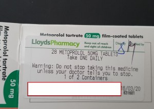 Is it difficult to read the label on medicine?