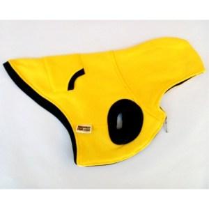 casaco de malha amarelo para cão