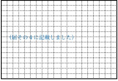 現場見取図の記入例