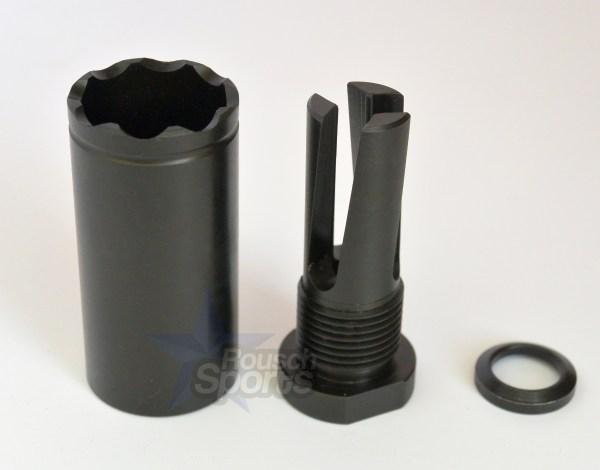 "FRH1-BFC-S Flash Redirecting Multipurpose Flash Hider- Blast forwarding Cone External Thread Adapter 3/4""-16 Austin Texas AR15 M16 M4 Rifle Concussion diversion Sound Forwarding"