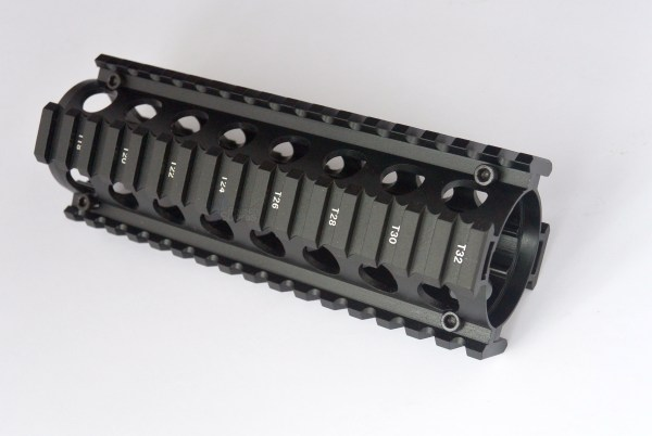 Carbine Length 2 Piece Drop in Quad Rail Handguard Forend - Circle Hand Guard Best Discount Wholesale prices Austin Texas TX Rousch Sports