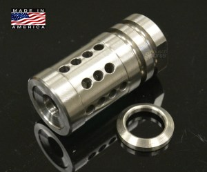 FXH C2 Shorty Stainless Steel Muzzle Brake Compensator A2 Style 6.5 Grendel M16 M4 AR15 Austin Texas Best Discount Wholesale Price AR Parts and Accessories RIfle Pistol Handgun Long Gun